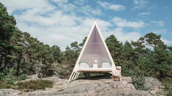 Nolla hut in Finland, eliminating the negative impact on the environment
