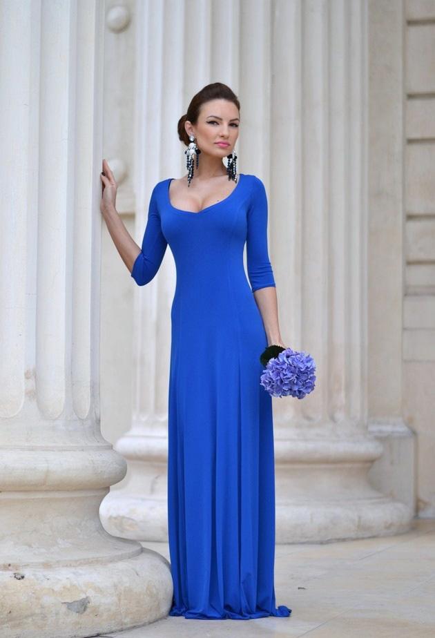 Серьги к голубому платью