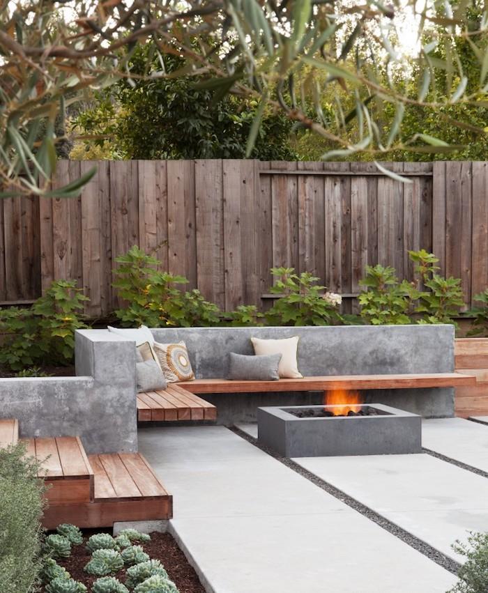 30 Великолепных примеров использования бетона в саду