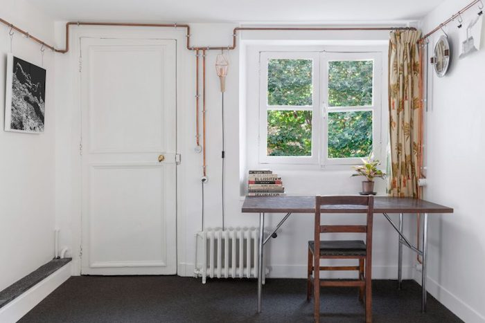 Unusual use of copper pipes in a 17th century building