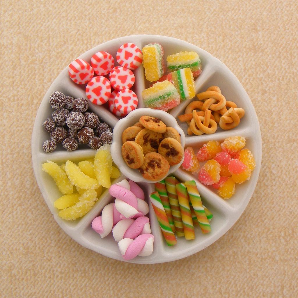 Микро еда из полимерной глины: malinina_sasha
