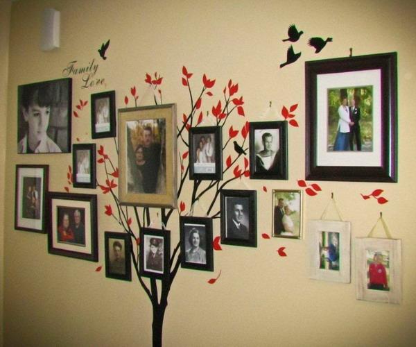 Древо семьи своими руками на стене