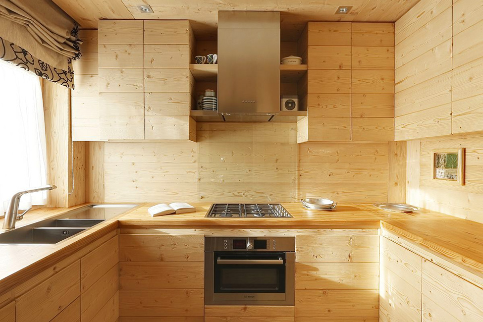 Интерьер в деревянном доме своими руками фото
