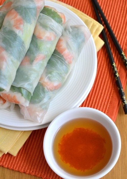 Fresh Vietnamese pancakes stuffed with - Nam