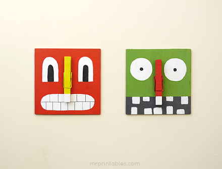 Funny toothed monsters