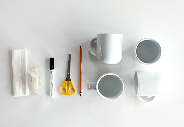 How to decorate a mug using the marker