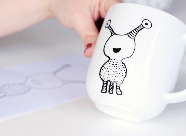 Как можно украсить кружку своими руками на день рождения