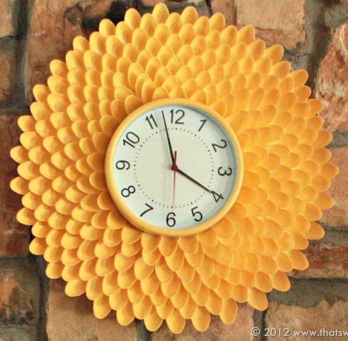 Часы из ложек мастер класс