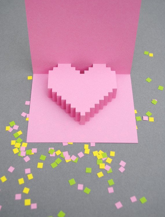 How to make a volume card with your own hands,a gift for your beloved on Valentine's Day