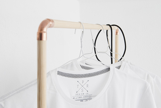 How to make a Scandinavian style coat hanger