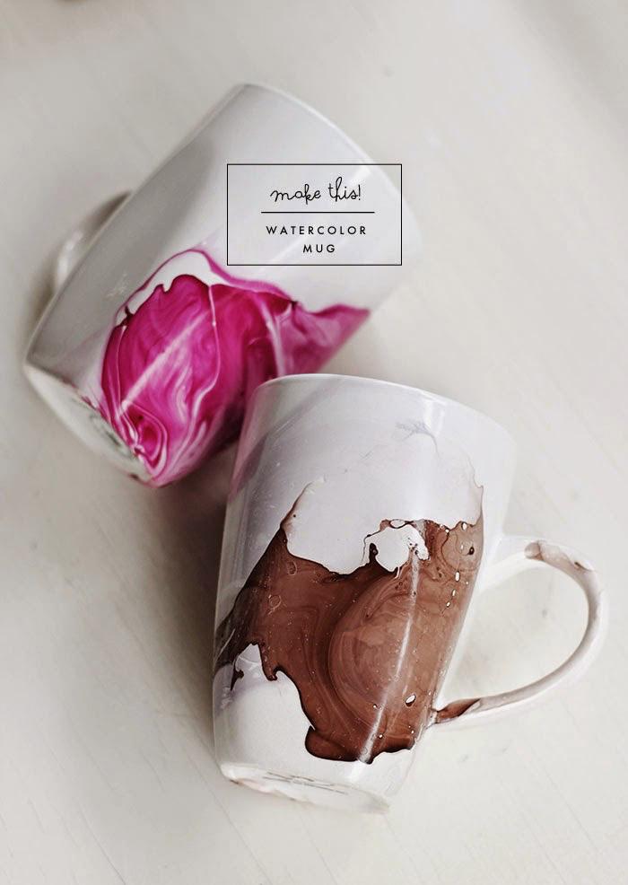 Original watercolor mug