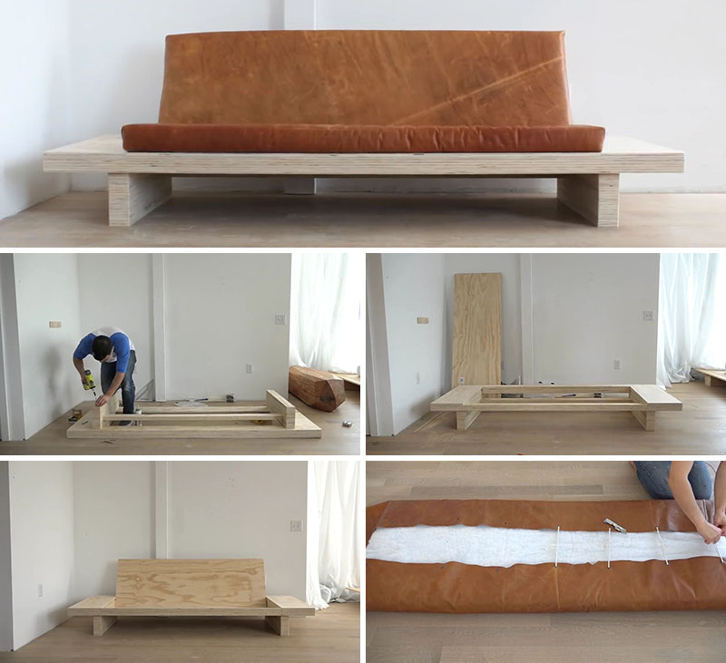 How to make a plywood sofa