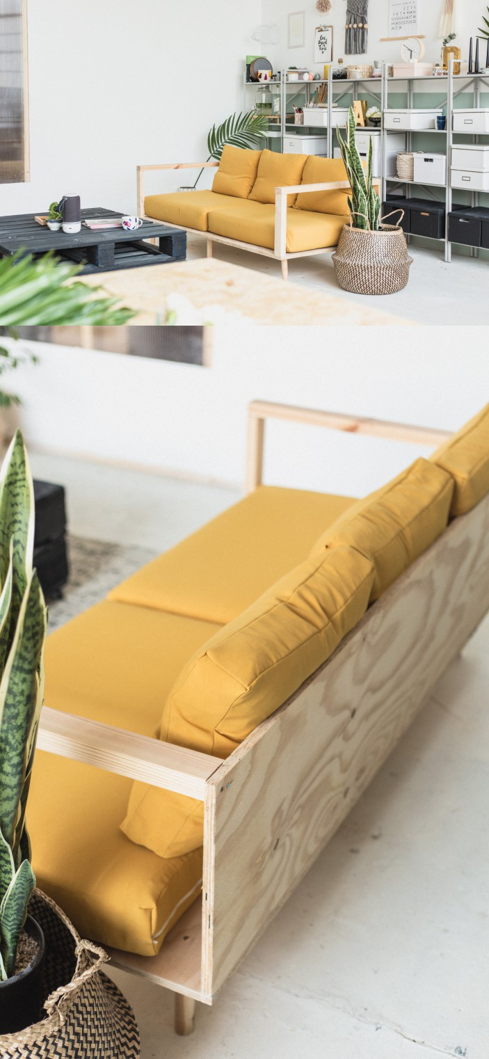 How to make a simple plywood sofa