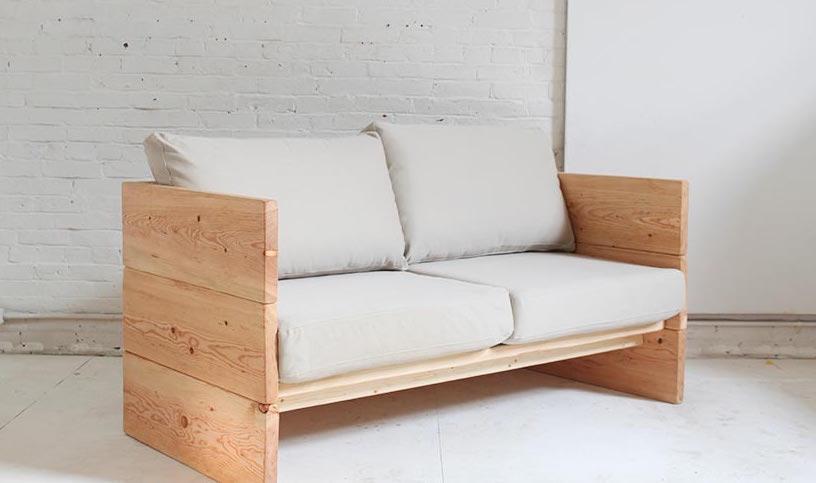 Как сделать деревянный диван своими руками