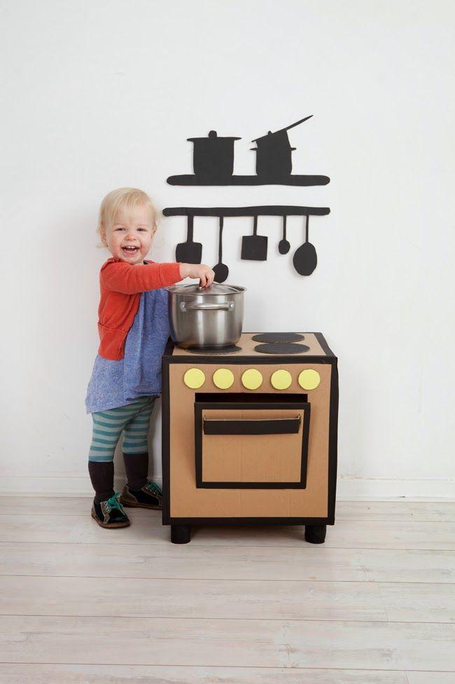 Игрушечная кухонная плита своими руками 96
