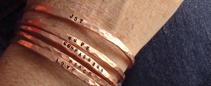 Мужские медные браслеты на руку