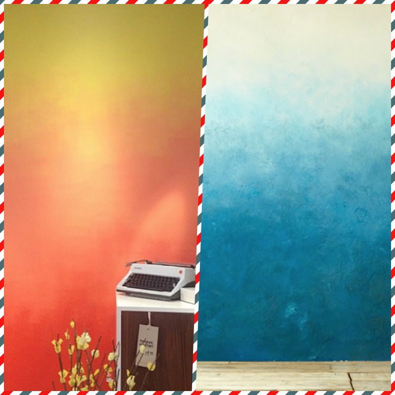 TOP 33. Walls with the effect of ombre. MASTER CLASS