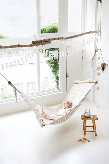 26 Ways of accommodation hammock in the interior. Master class
