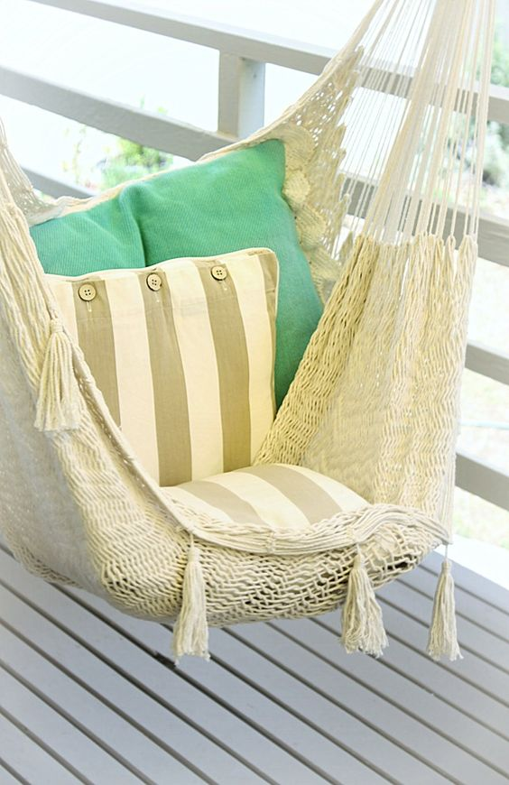 26 Ways to place hammock in the interior.Master class