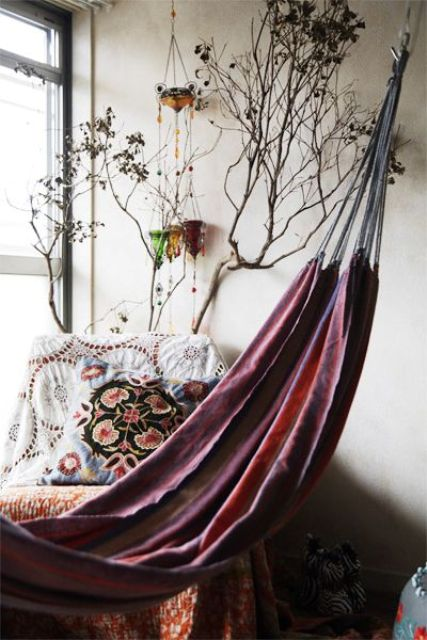 26 Ways to place hammock in the interior. Master class