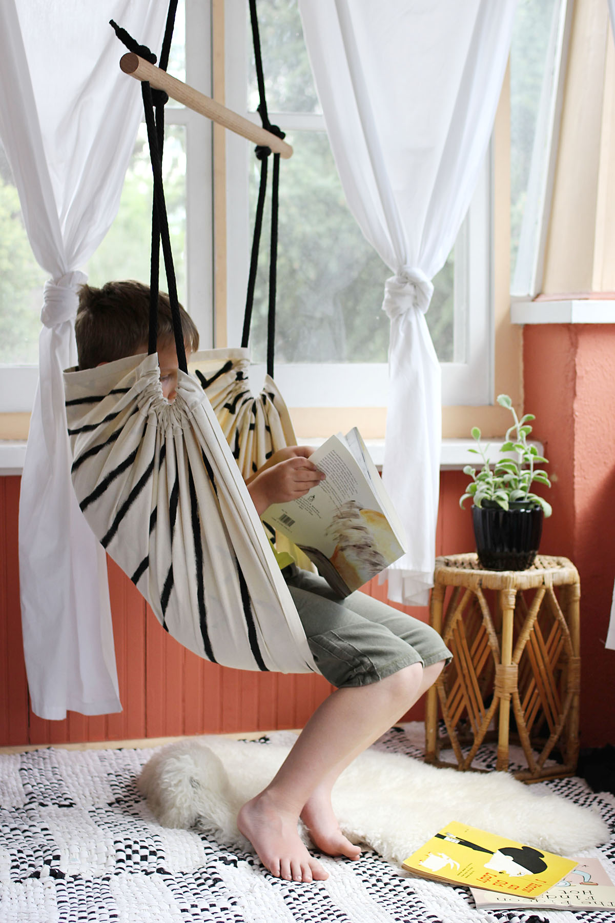 How make a hanging hammock chair