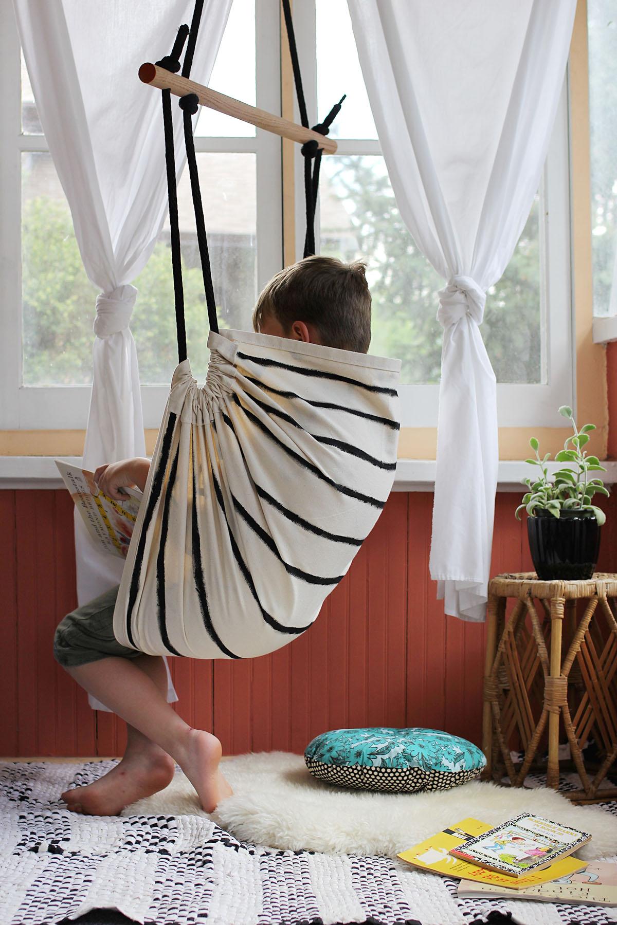 Кресло-гамак подвесное из ткани своими руками