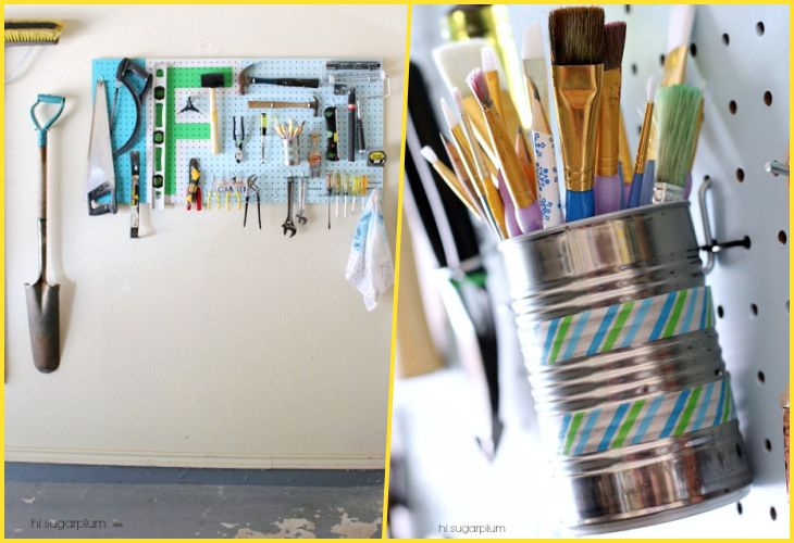 27 Life hacking for organization of space in the garage