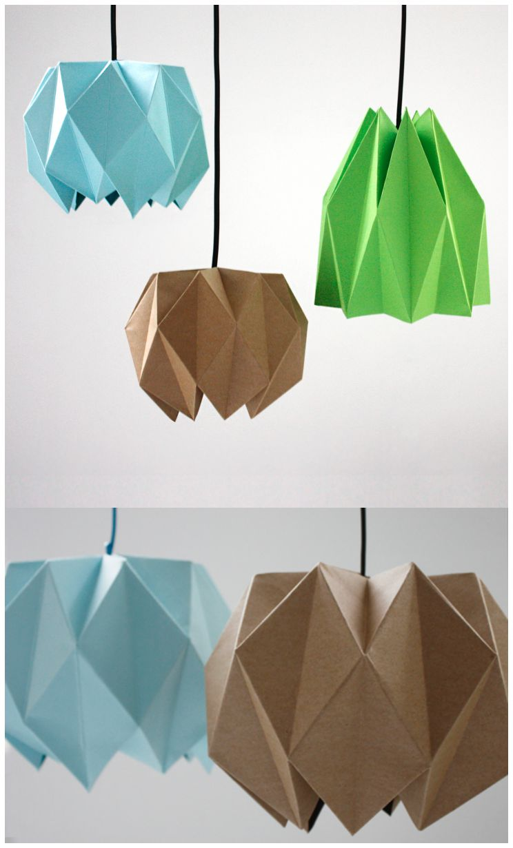10 Потрясающих светильников из бумаги