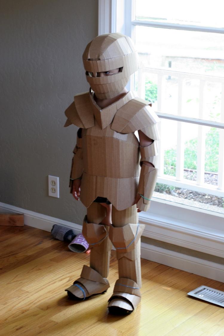 Fantastic knightly cardboard armor