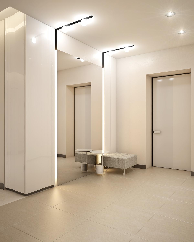 Interior Foyer Minimalist : Интересных способов обустроить маленькую прихожую в