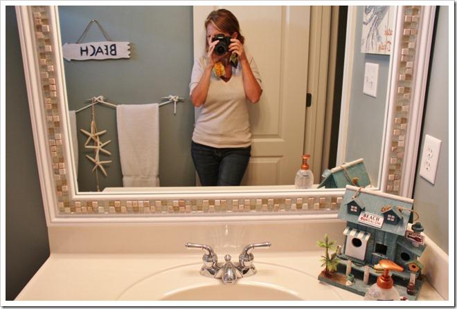 Как оформить зеркало в ванной своими руками