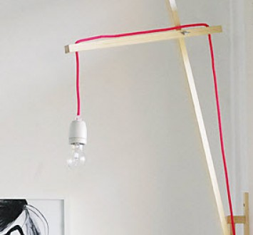 {своими руками} Креативная лампа в спальню
