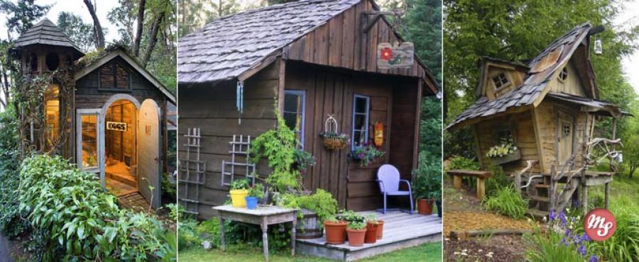 15 Захватывающих садовых сарайчиков