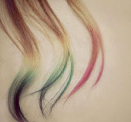 Прическа: Цветные кончики {своими руками}