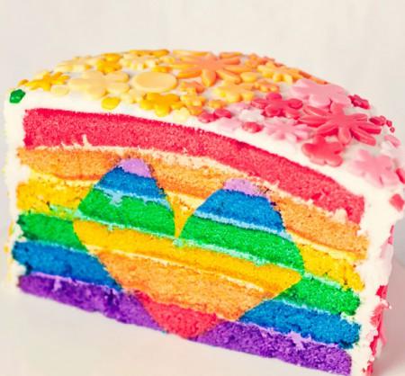 {своими руками} Тортик с цветами радуги