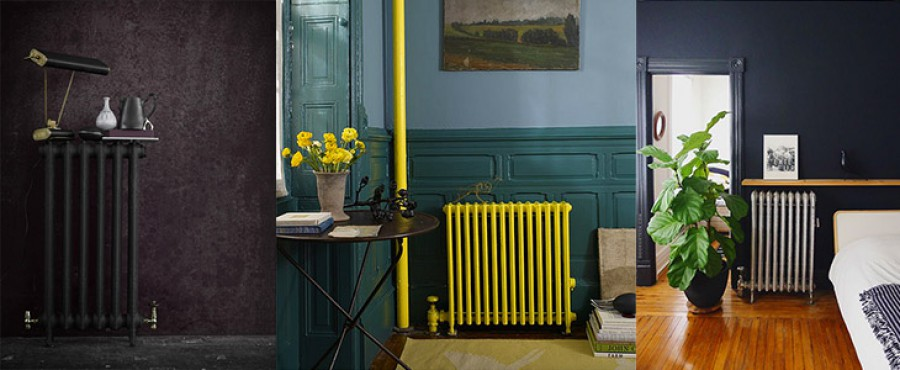 32 Примера использования старых радиаторов в интерьере