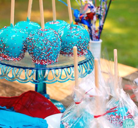 Синие конфеты с яблок {своими руками}
