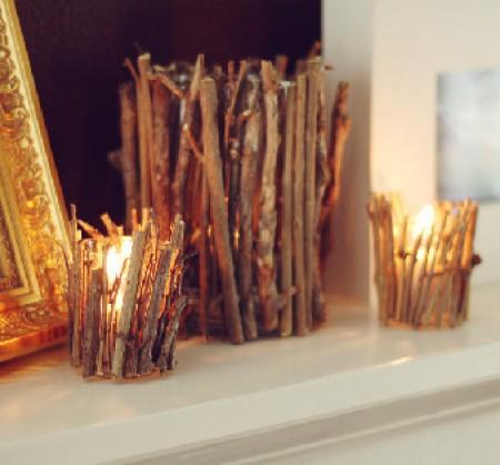{своими руками} Декор подставок для свечей