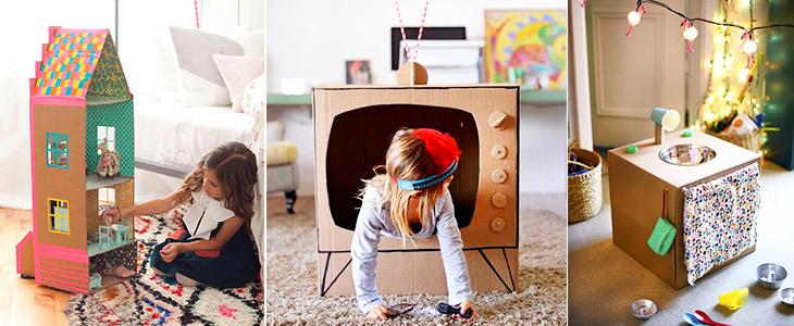 Игрушки для детей из картонных коробок. ТОП 66