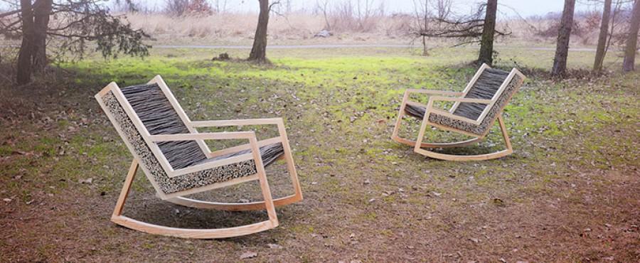 Кресло качалка, вдохновленное природой
