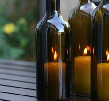 Подсвечник из винной бутылки {своими руками}