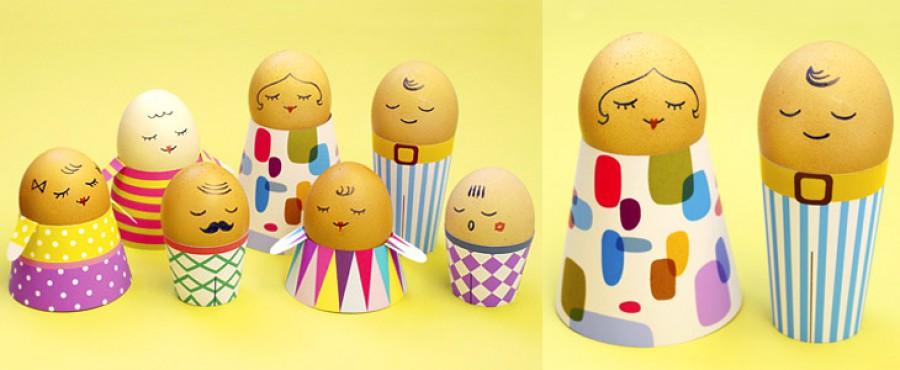 Подставки для пасхальных яиц из бумаги