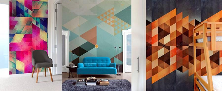 22 Идеи Геометрических узоров на стене