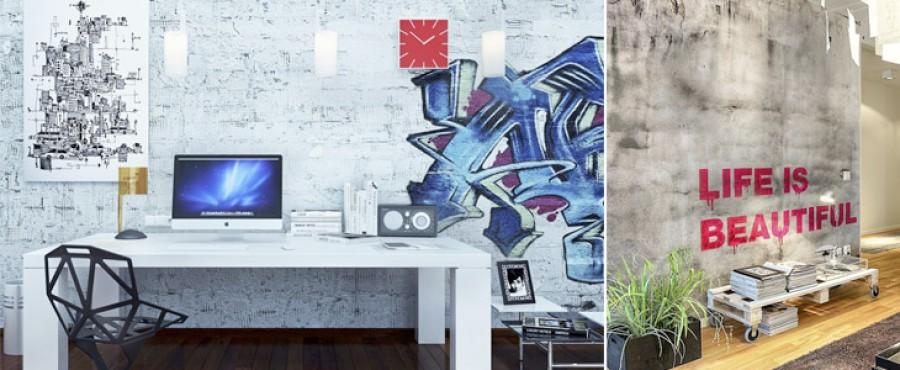Граффити в интерьере. 18 Идей