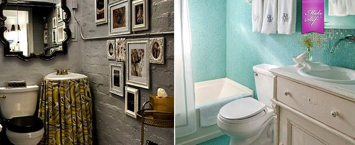 Маленькие ванные комнаты {25 Идей}