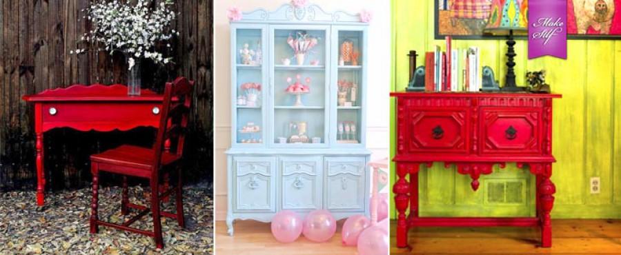 Яркая мебель в интерьере, 25 Идей