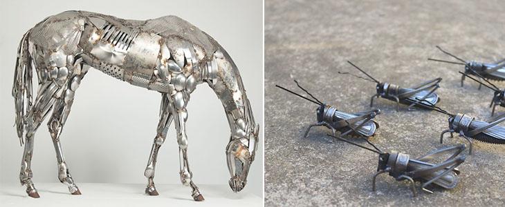 Удивительные работы из металлолома
