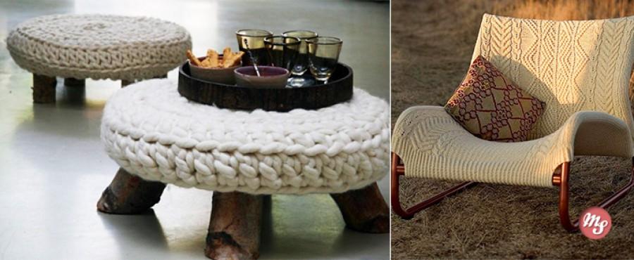 30 Удивительных идей вязаной мебели