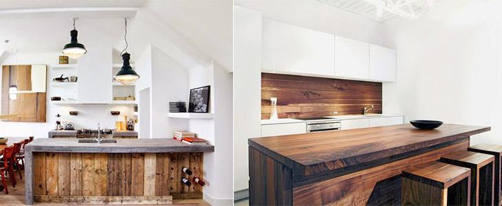 Современные кухни в деревенском стиле