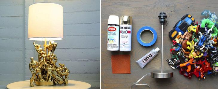Как сделать оригинальную настольную лампу из игрушек